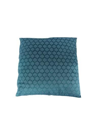 Mikasa Moor Mavi Desenli Yastık 44cm Mavi
